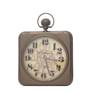 Chonograph Melrose Square exposed gear wall clock - Copper