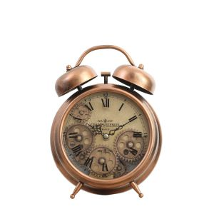 TQ-Y629A : Newton bell exposed gear movement bedside clock - copper