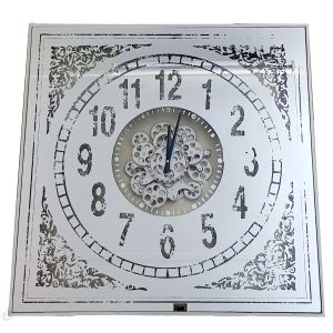 TQ-Y633 : 82cm Large Square Persian Mirrored Exposed Gear Clock