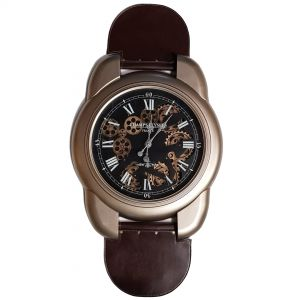 TQ-Y653 : Large wrist watch Exposed Gear Wall Clock - Gold **NOT AVAILABLE UNTIL FURTHER NOTICE**