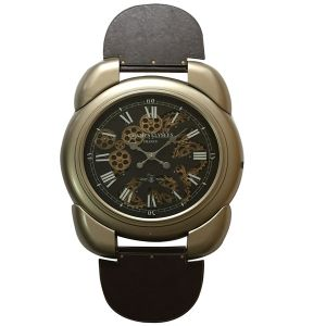 TQ-Y653 : Large wrist watch Exposed Gear Clock - Gold **AVAIL END APRIL 2020**