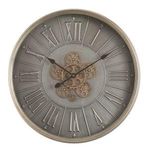 TQ-Y666 : D60cm Round George Modern Exposed Gear Movement Wall Clock –  Grey