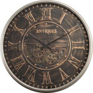 TQ-Y668 : D103cm Round Antique Roman Exposed Gear Clock - Bronze w/black wash