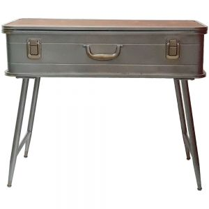 Dalton suitcase desk w/wooden top