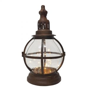 TQ-ZT54 : Eddison Orb Antique Miner lantern w/ LED lights **AVAILABLE 2020 **