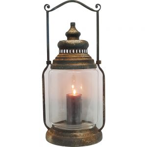 TQ-ZT58 : Eddison Antique Miner Lantern - Large (grey wash)