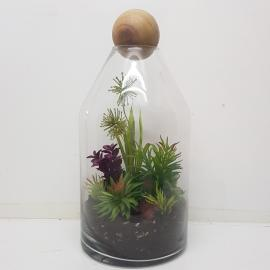 MV001L : Topple Dome Glass Atrium Vase - Large (H41cm)