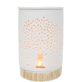 CL60w : Large Hassan oil burner - Tree of Life (white)